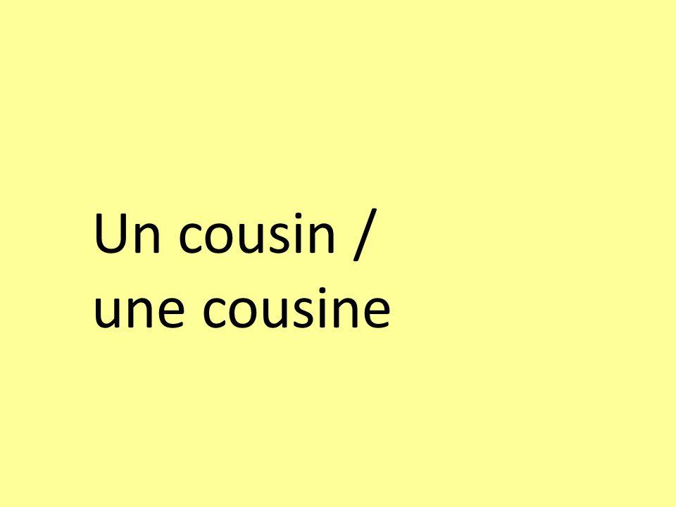 Un cousin / une cousine