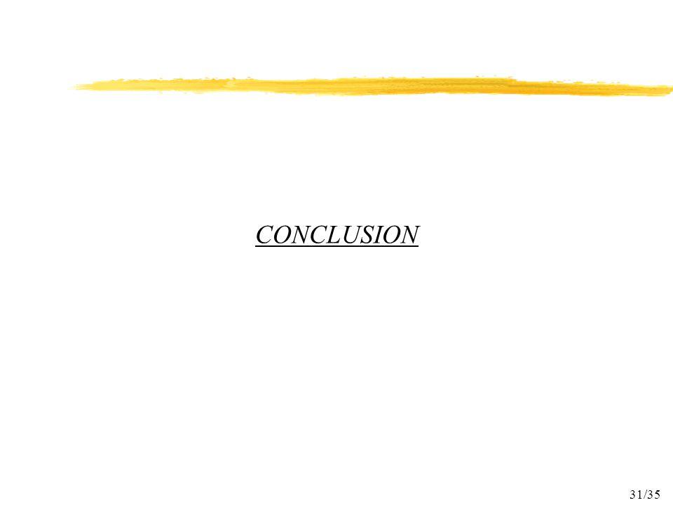 31/35 CONCLUSION