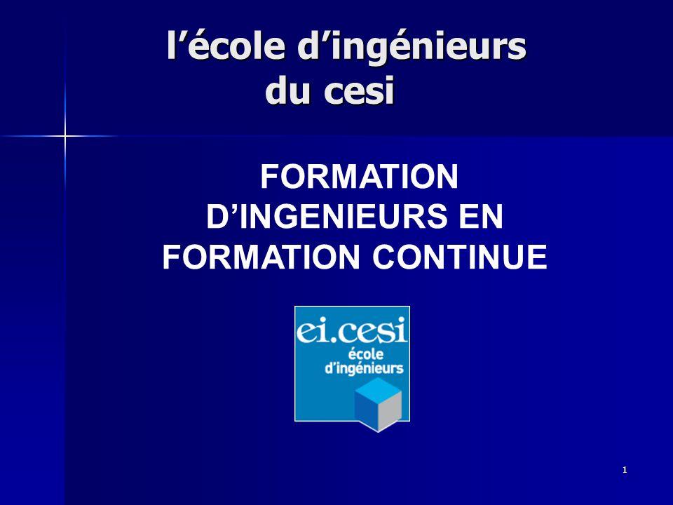 1 lécole dingénieurs du cesi lécole dingénieurs du cesi FORMATION DINGENIEURS EN FORMATION CONTINUE