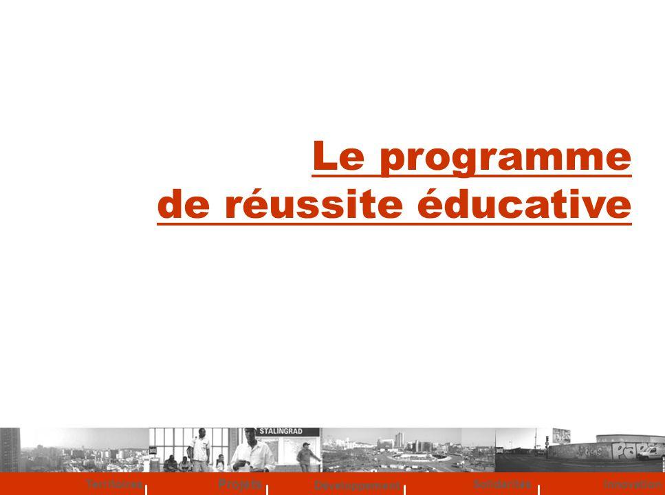 Développement Territoires Solidarités Projets Innovation Le programme de réussite éducative