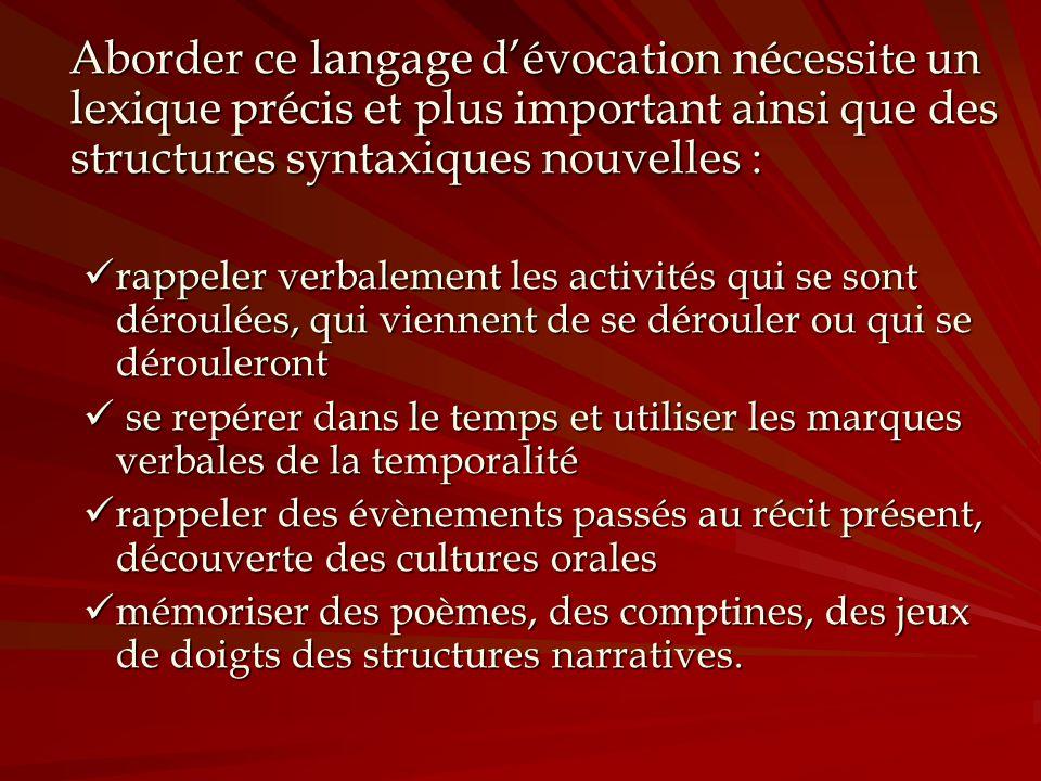 Aborder ce langage dévocation nécessite un lexique précis et plus important ainsi que des structures syntaxiques nouvelles : Aborder ce langage dévoca