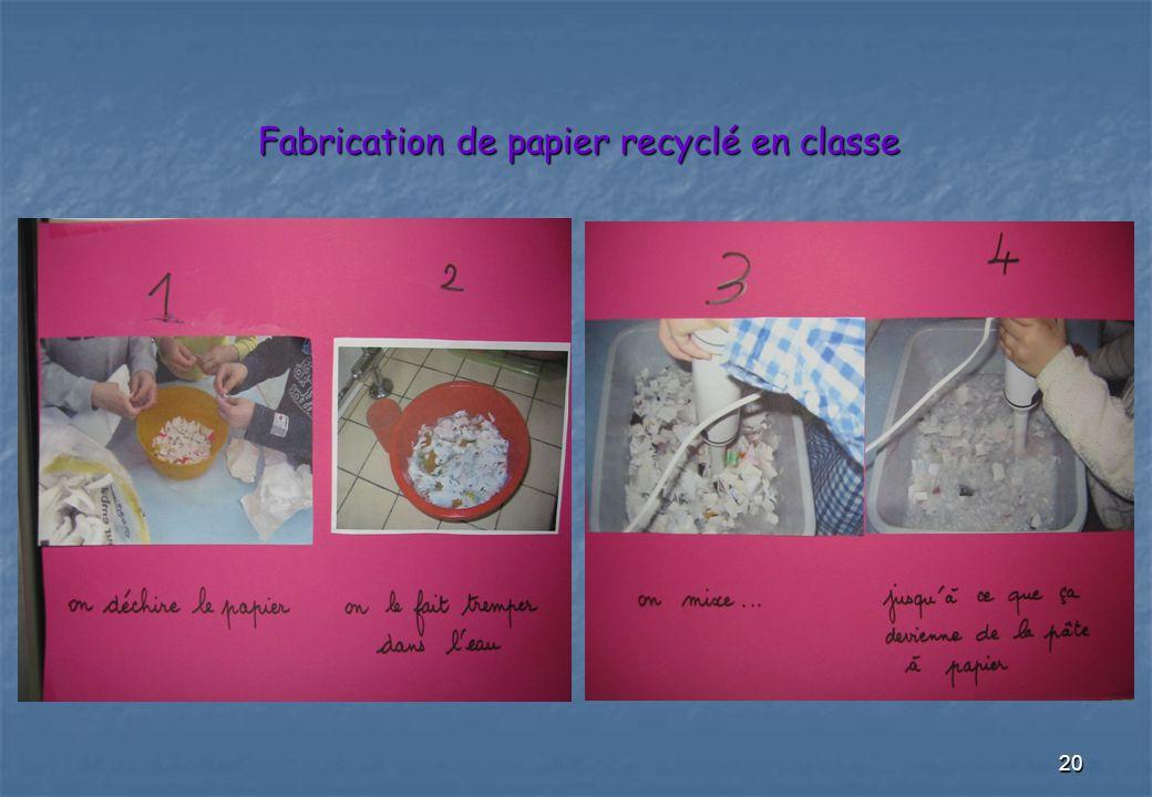 20 Fabrication de papier recyclé en classe
