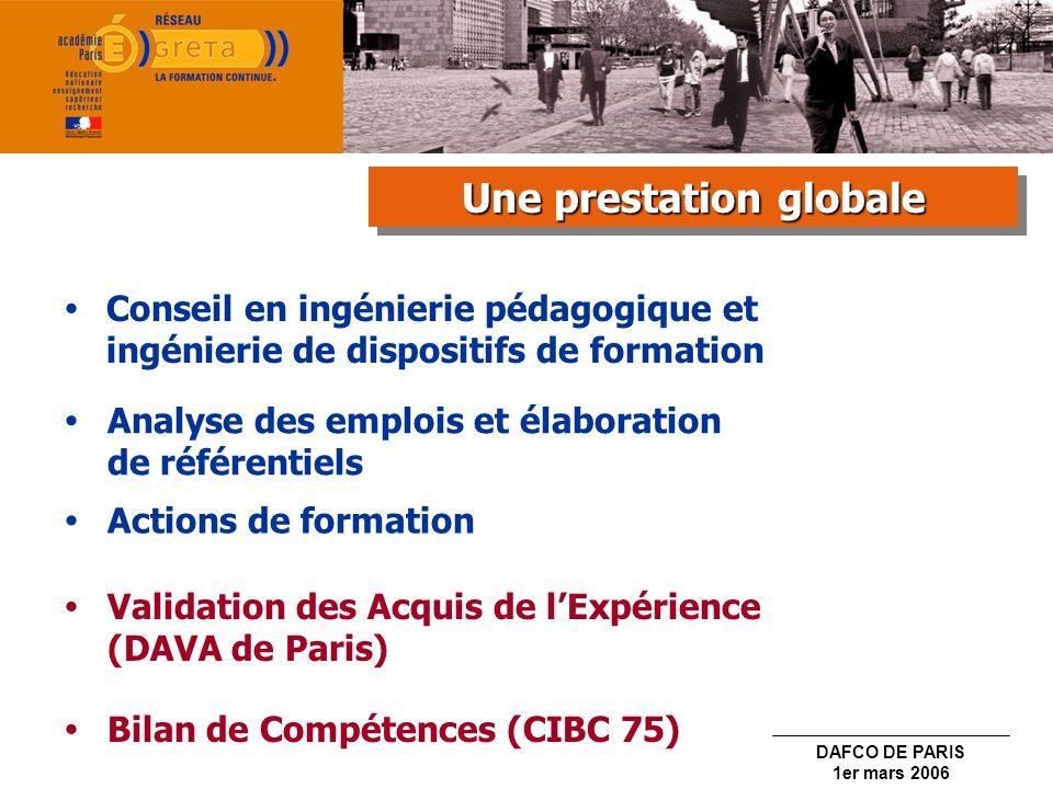 DAFCO DE PARIS 1er mars 2006 Indemnité de sujétion spéciale annuelle payée mensuellement sur douze mois.