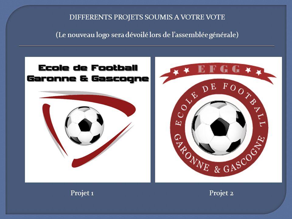DIFFERENTS PROJETS SOUMIS A VOTRE VOTE (Le nouveau logo sera dévoilé lors de lassemblée générale) Projet 1Projet 2