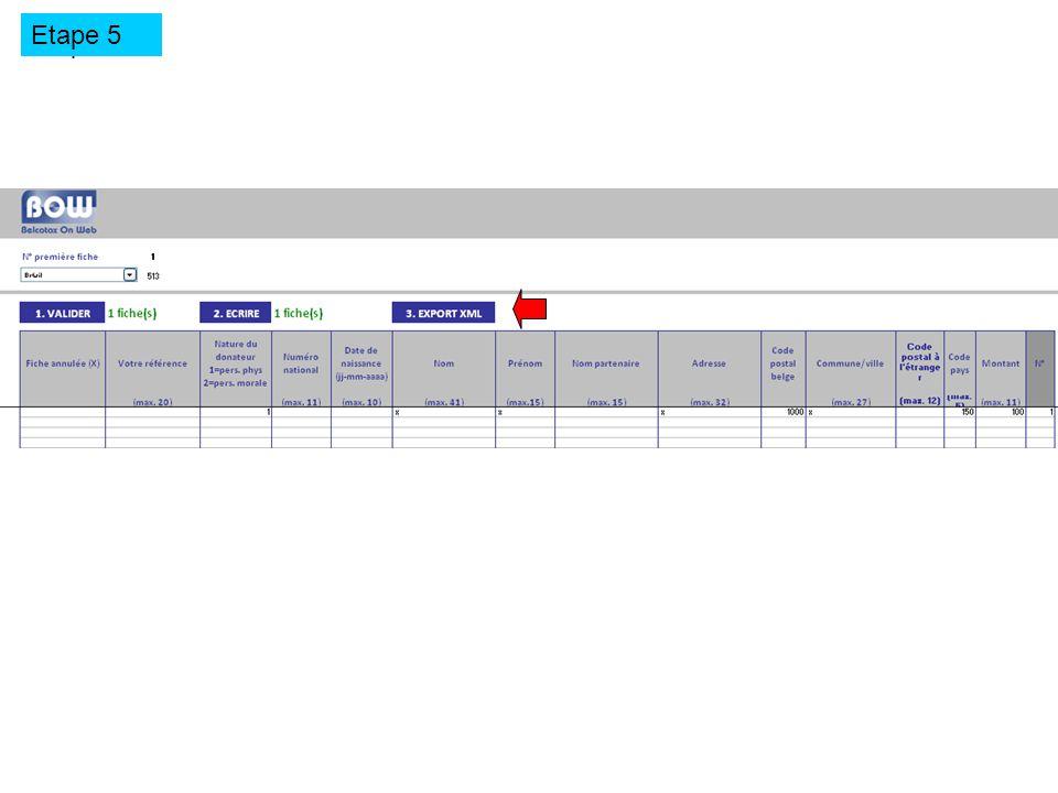 Etape 5 Exporter le fichier en format.xml Etape 5