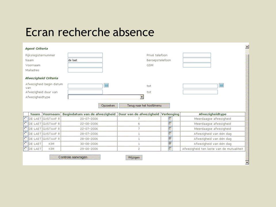 SPF SANTE PUBLIQUE, SECURITE DE LA CHAINE ALIMENTAIRE ET ENVIRONNEMENT 29 Demande de contrôle Chef fonctionnel/chef de service/DG/SD/Président demandent des contrôles ad hoc : via la boîte mail controle (du service dencadrement P&O) puis les contrôles sont enregistrés avant 9h30 (13h30 et 21h) (nom, adresse, numéro médical, …) par le service dencadrement P&O Raisons: Centralisation de lenregistrement au SD P&O shared service SD P&O : décharger les chefs fonctionnels contrôle de qualité (application uniforme, déviation éventuelle par rapport à la gestion des contrôles convenue)