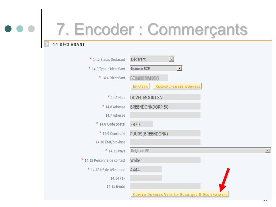 42 7. Encoder : Commerçants 42