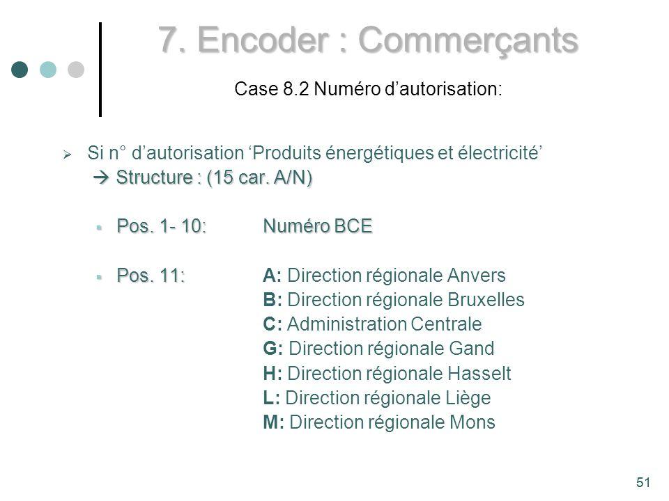 51 7.Encoder : Commerçants 7.