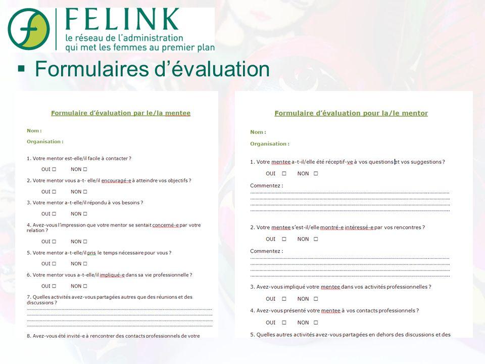 Formulaires dévaluation