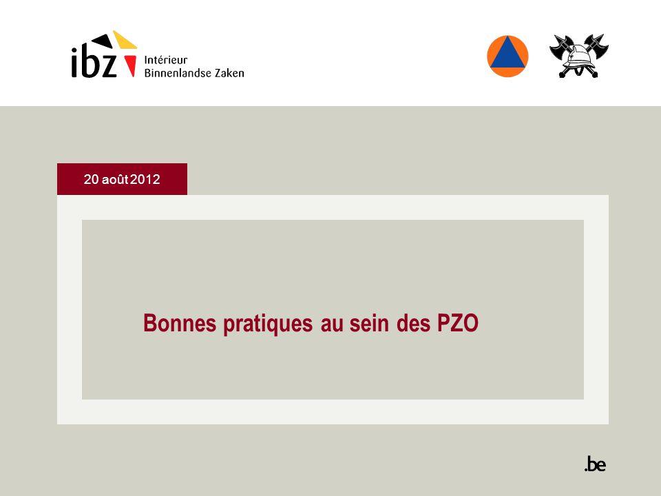 20 août 2012 Bonnes pratiques au sein des PZO