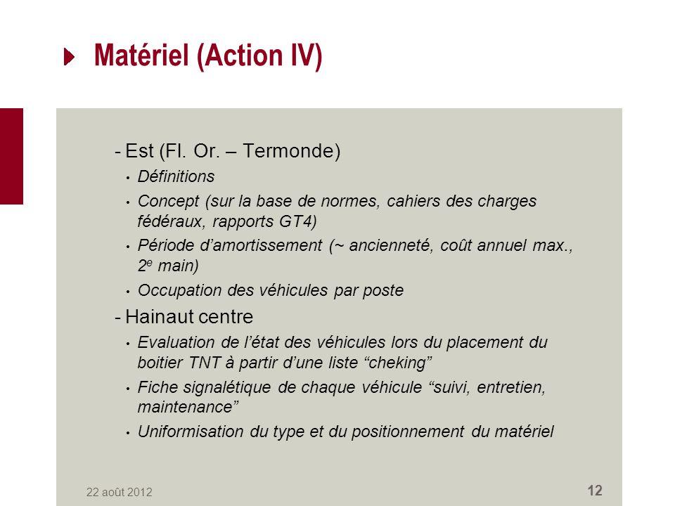 Matériel (Action IV) -Est (Fl. Or.
