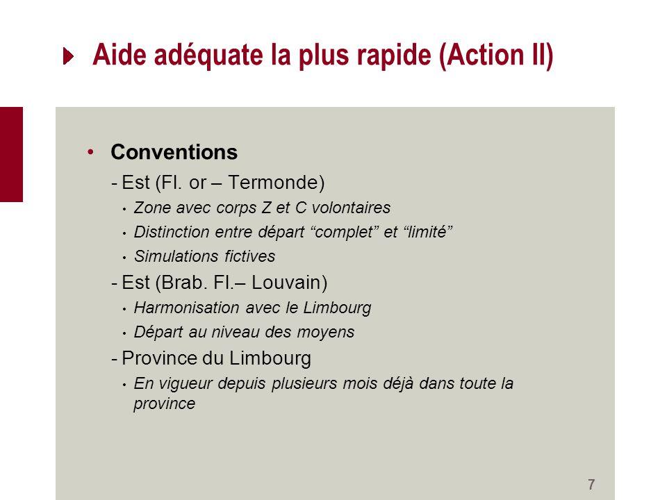 Aide adéquate la plus rapide (Action II) Conventions -Est (Fl.
