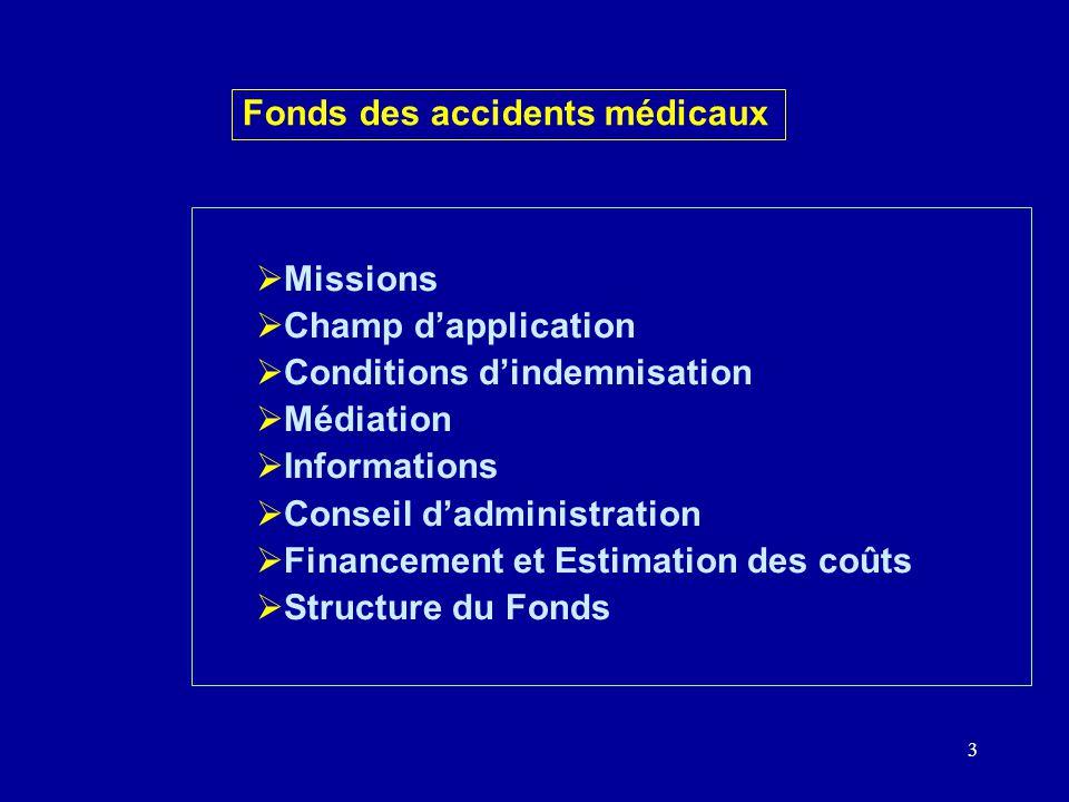 4 Missions Fonds des accidents médicaux