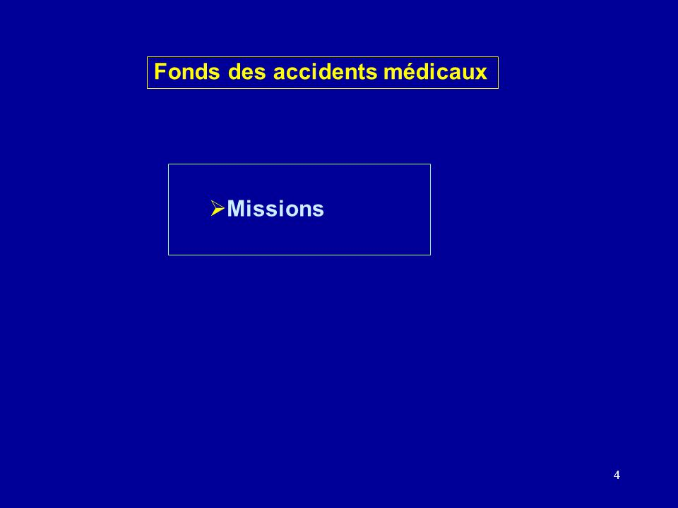 4 Missions Fonds des accidents médicaux