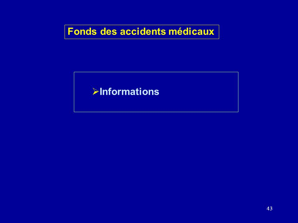 43 Informations Fonds des accidents médicaux