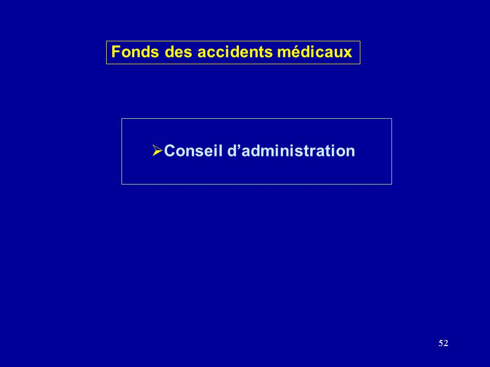 52 Conseil dadministration Fonds des accidents médicaux