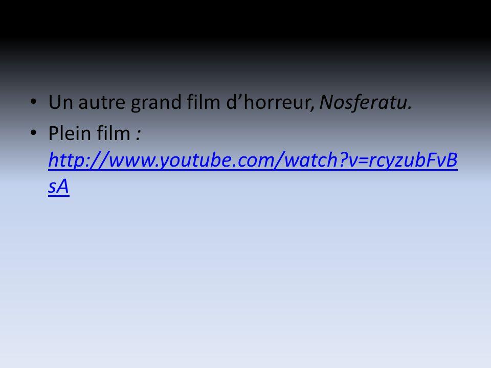 Un autre grand film dhorreur, Nosferatu.