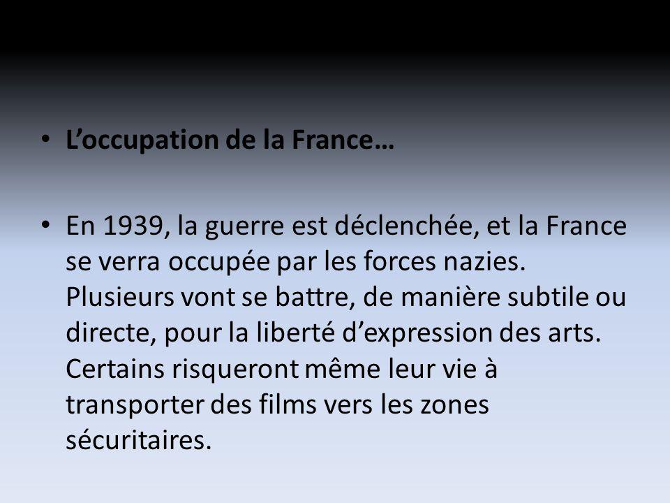 Loccupation de la France… En 1939, la guerre est déclenchée, et la France se verra occupée par les forces nazies.