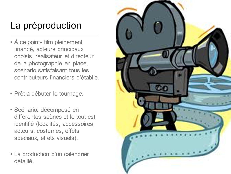 La préproduction À ce point- film pleinement financé, acteurs principaux choisis, réalisateur et directeur de la photographie en place, scénario satisfaisant tous les contributeurs financiers d établie.