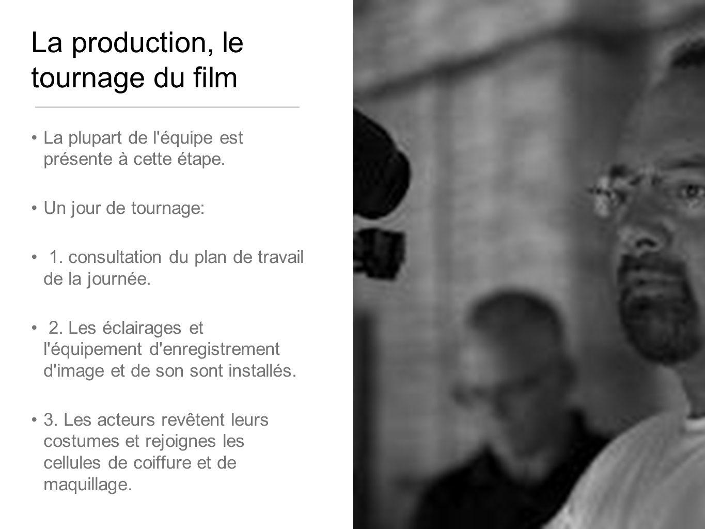 La production, le tournage du film La plupart de l équipe est présente à cette étape.