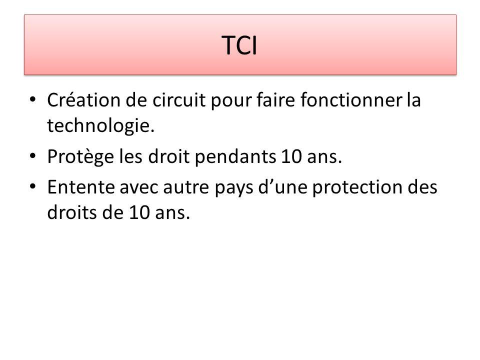 TCI Création de circuit pour faire fonctionner la technologie.