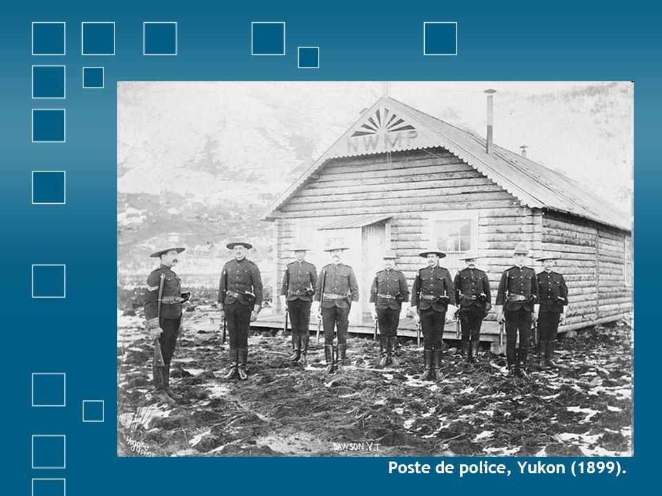 Poste de police, Yukon (1899).