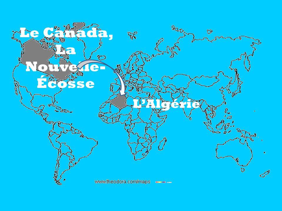 Le Canada, La Nouvelle- Écosse LAlgérie