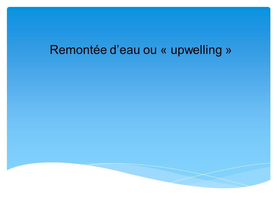 Remontée deau ou « upwelling »