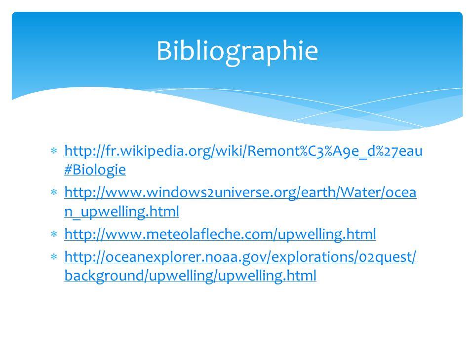 http://fr.wikipedia.org/wiki/Remont%C3%A9e_d%27eau #Biologie http://fr.wikipedia.org/wiki/Remont%C3%A9e_d%27eau #Biologie http://www.windows2universe.