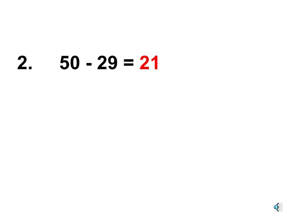 1. 80 - 44 = 36