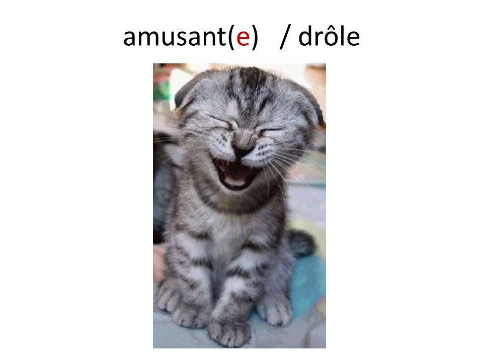 amusant(e) / drôle