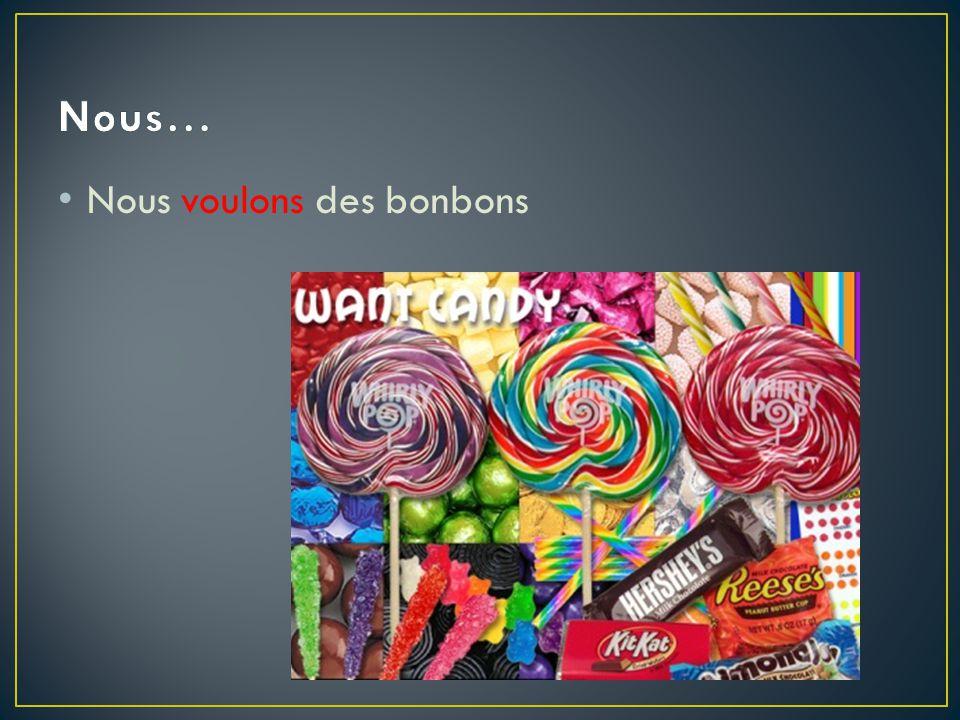 Nous voulons des bonbons