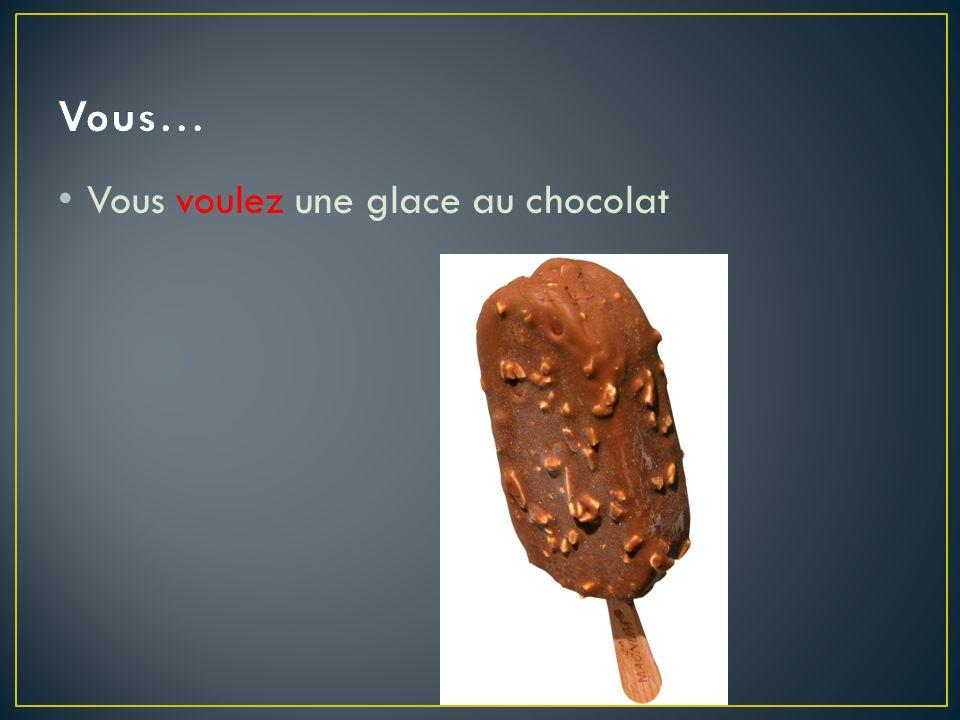 Vous voulez une glace au chocolat