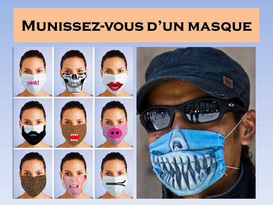 Munissez-vous dun masque
