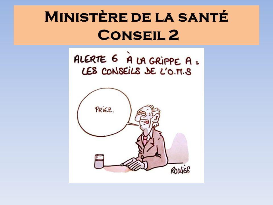 Ministère de la santé Conseil 2