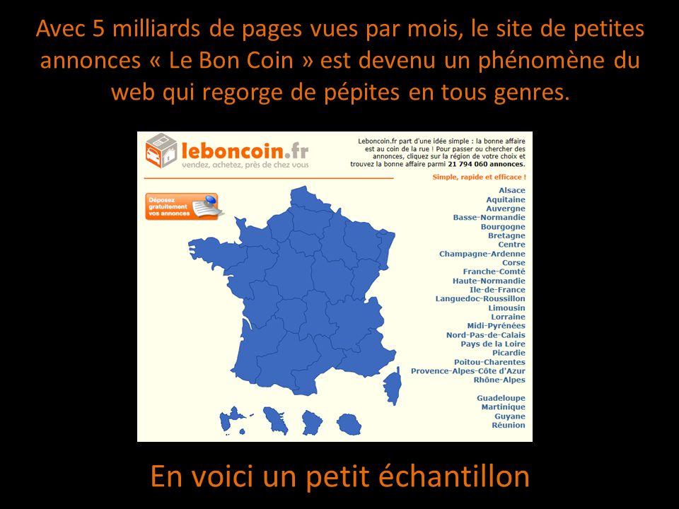 Avec 5 milliards de pages vues par mois, le site de petites annonces « Le Bon Coin » est devenu un phénomène du web qui regorge de pépites en tous gen