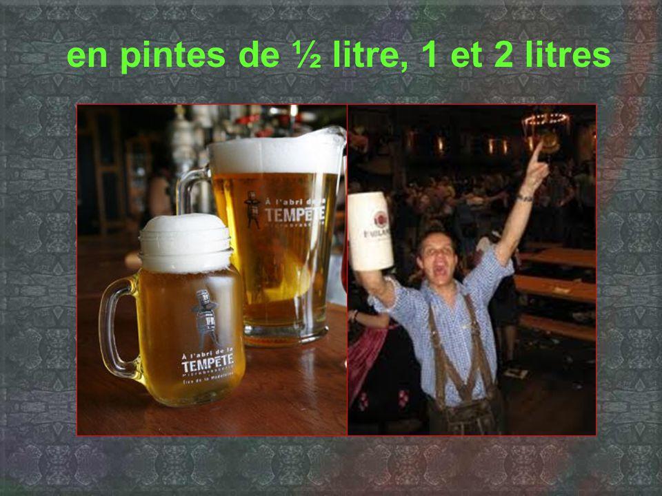 La bière est servie...