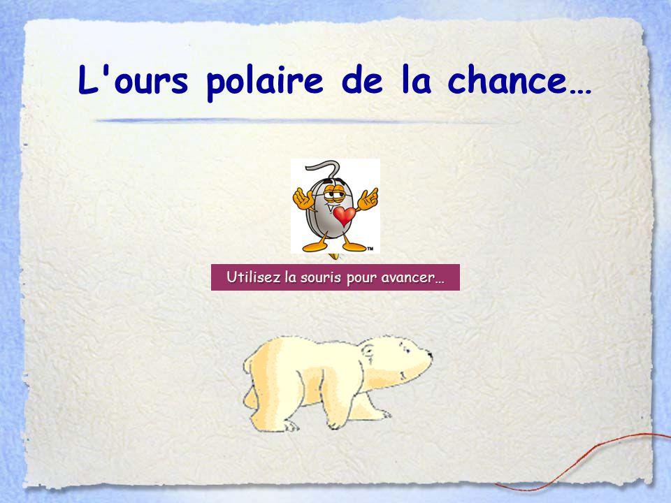 L ours polaire de la chance… Utilisez la souris pour avancer…
