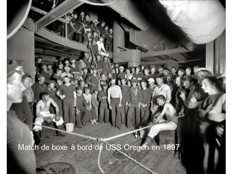 Match de boxe à bord de USS Oregon en 1897