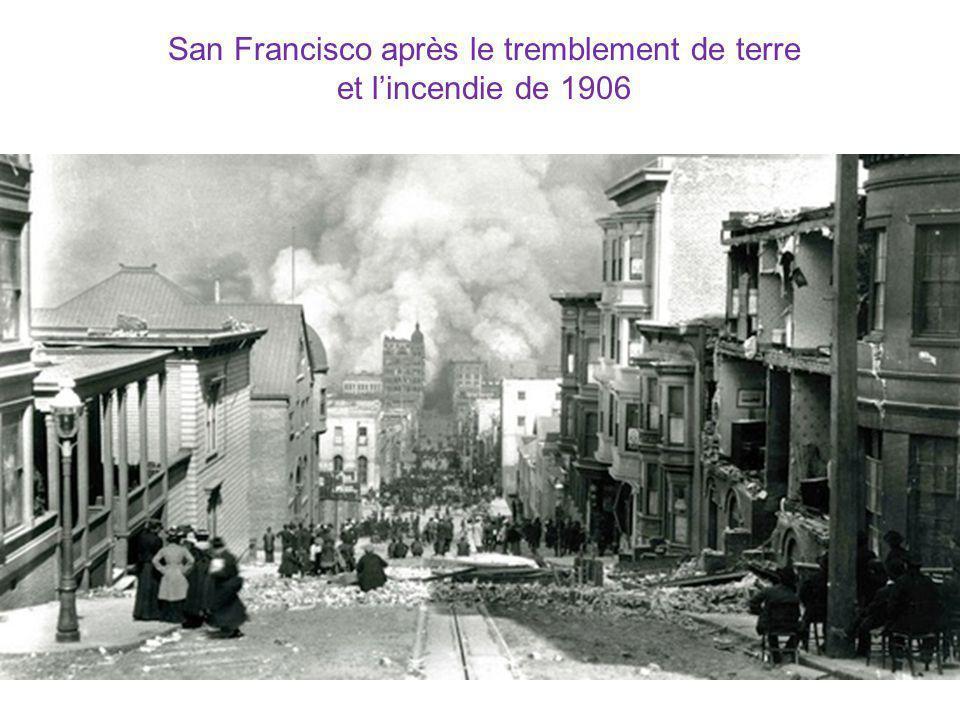 San Francisco après le tremblement de terre et lincendie de 1906