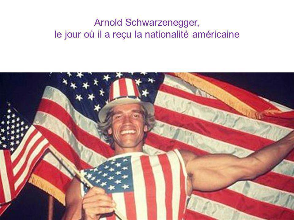 Arnold Schwarzenegger, le jour où il a reçu la nationalité américaine