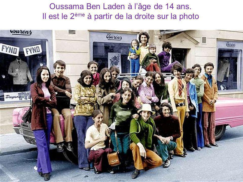 Oussama Ben Laden à lâge de 14 ans. Il est le 2 ème à partir de la droite sur la photo