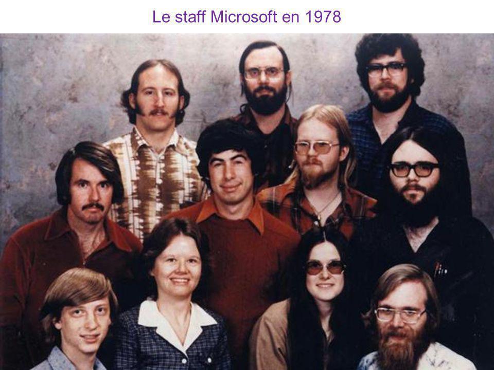 Le staff Microsoft en 1978