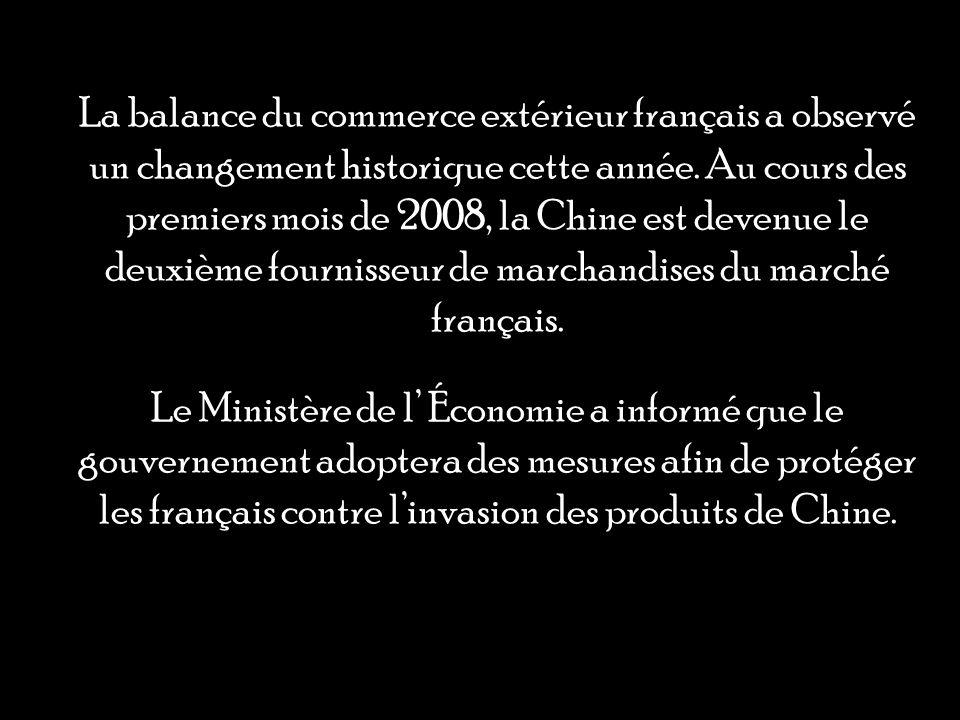 La balance du commerce extérieur français a observé un changement historique cette année.