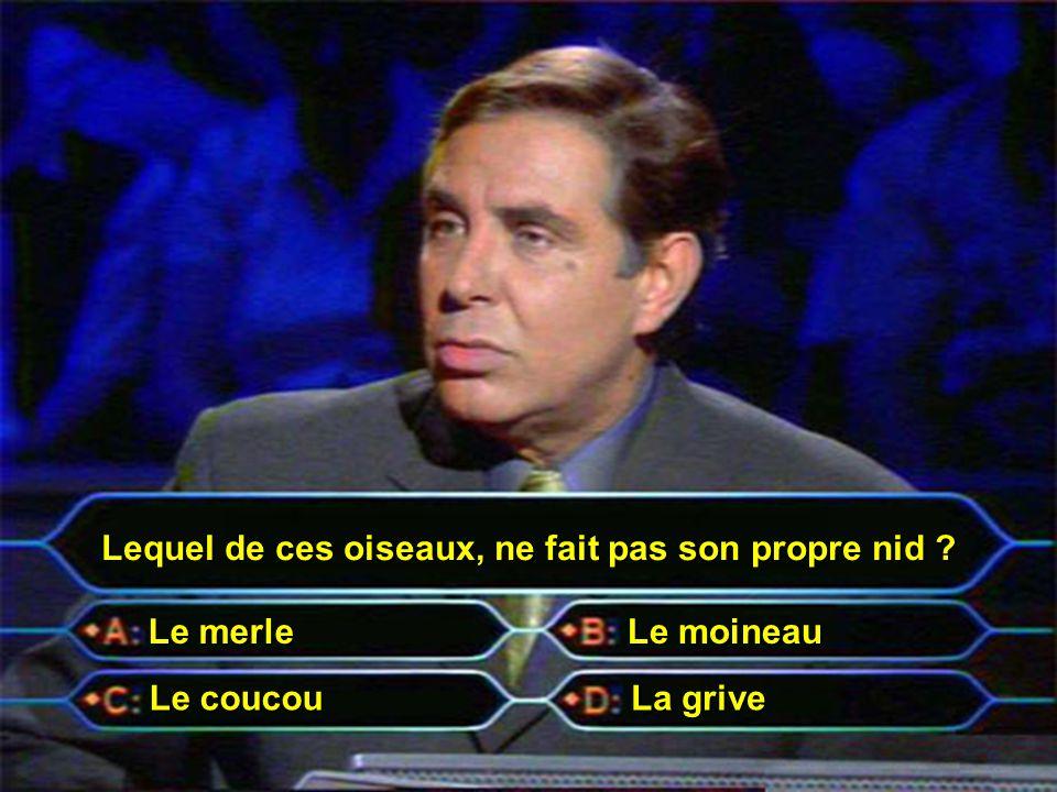 Jean-Pierre Jean-Pierre Pour un million d'euros, voici donc la quinzième et dernière question...