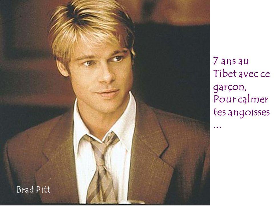 7 ans au Tibet avec ce garçon, Pour calmer tes angoisses... Brad Pitt