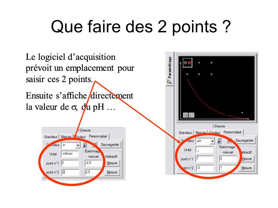 Que faire des 2 points .Le logiciel dacquisition prévoit un emplacement pour saisir ces 2 points.