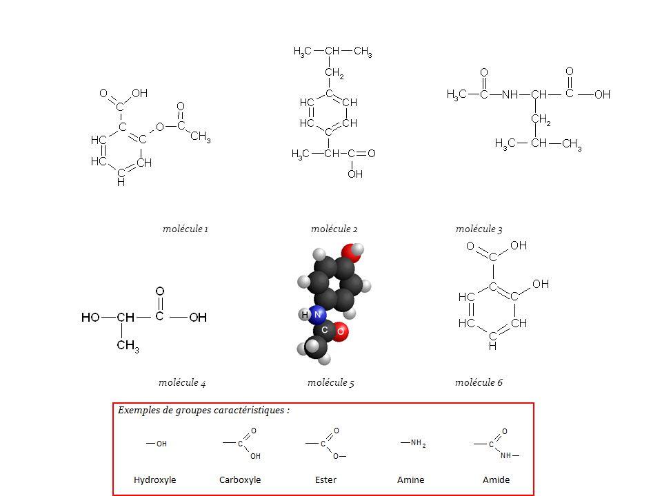molécule 1molécule 2molécule 3 molécule 4molécule 5molécule 6