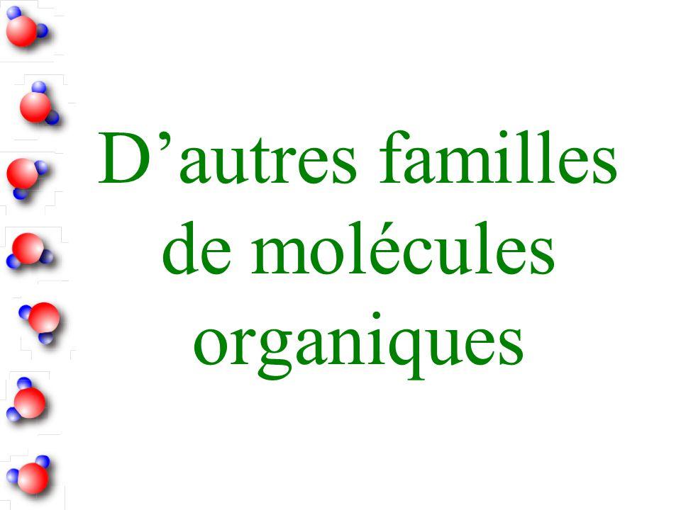 Dautres familles de molécules organiques