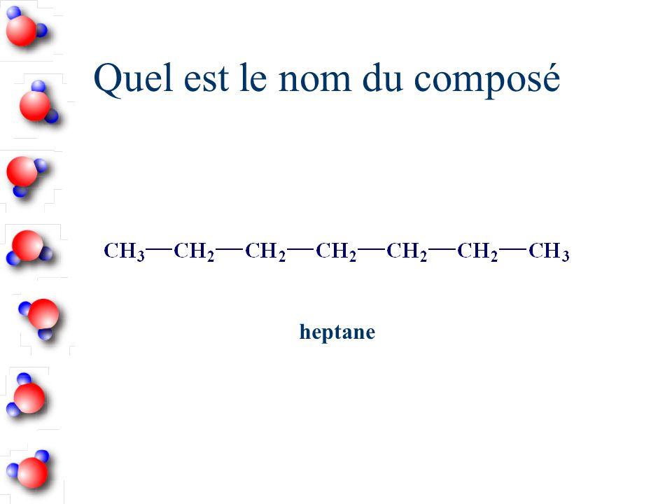 Quel est le nom du composé heptane